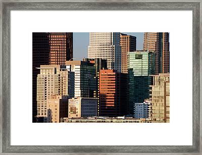 Downtown Los Angeles Framed Print by Mitch Diamond