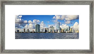 Downtown Miami  Framed Print by Eyzen M Kim