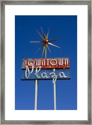 Downtown Plaza Framed Print by Matthew Bamberg