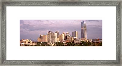 Downtown Skyline, Oklahoma City Framed Print by Panoramic Images