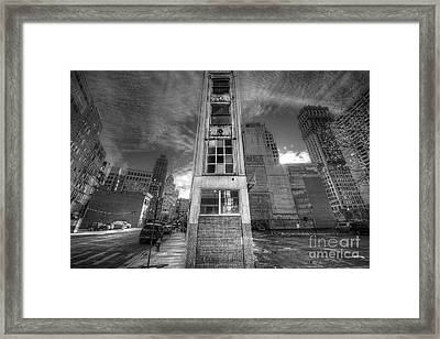 Downtown Synagogue In Detroit Framed Print