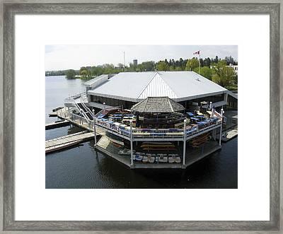 Dows Lake Pavilion, Ottawa Tulip Framed Print