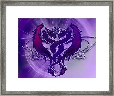 Dragon Duel Series 4 Framed Print