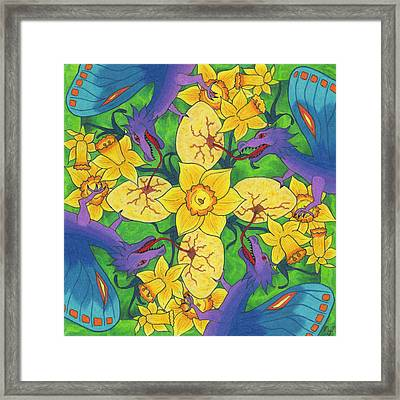 Dragondala Spring Framed Print by Mary J Winters-Meyer