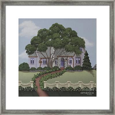 Dragonfly Cottage Framed Print