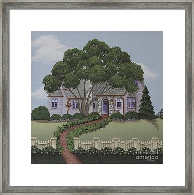 Dragonfly Cottage Framed Print by Catherine Holman