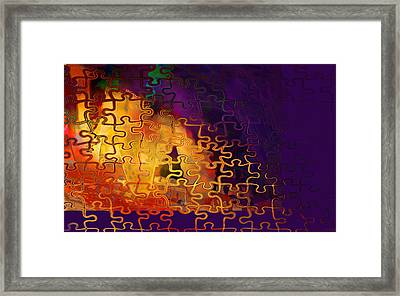 Dragon's Teeth Puzzle Framed Print by Constance Krejci