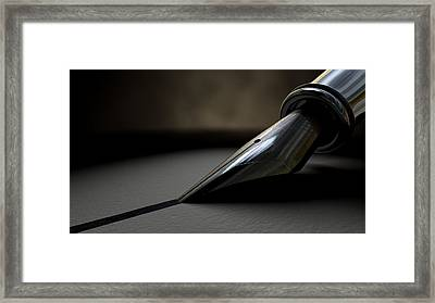 Drawing The Line Framed Print by Allan Swart