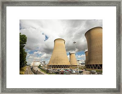 Drax Power Station In Yorkshire Framed Print