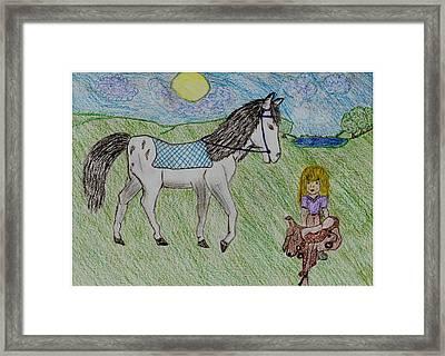 Dream Horse Framed Print by Shaunna Juuti