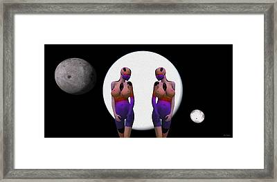 Dream Scapes Series One It Is A Matter Of Time Framed Print by Sir Josef - Social Critic - ART