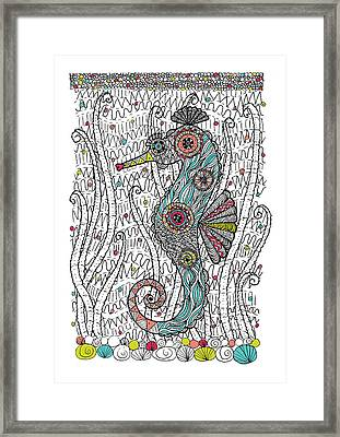 Dream Seahorse Framed Print by Susan Claire