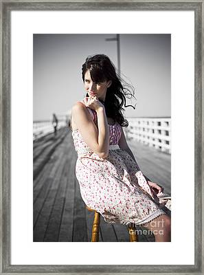 Dreaming Female Framed Print by Jorgo Photography - Wall Art Gallery