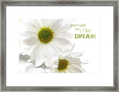 Dreams With Message Framed Print