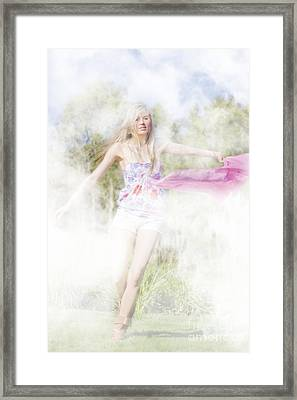 Dreamy Enchanted Forest Dancer Framed Print by Jorgo Photography - Wall Art Gallery