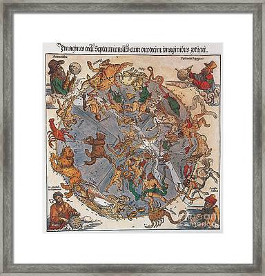 D�rer Star Map, 1515 Framed Print by Science Source