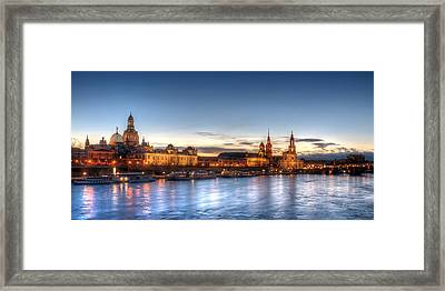 Dresden Skyline Framed Print by Steffen Gierok