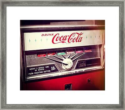 Drink Coca Cola Framed Print