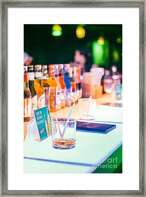 Drinking In Pub Or Bar Framed Print by Tuimages