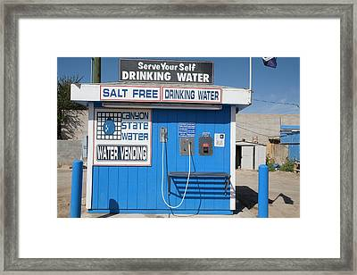 Drinking Water Vending Machine Framed Print by Jim West