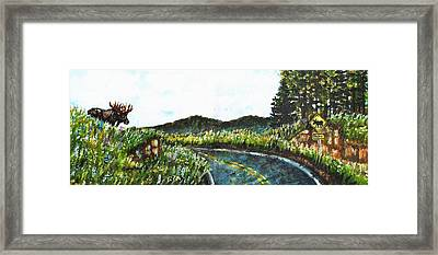 Driving In Maine Framed Print by Shana Rowe Jackson