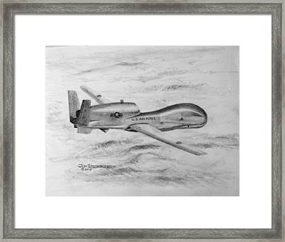 Drone Rq-4 Global Hawk Framed Print