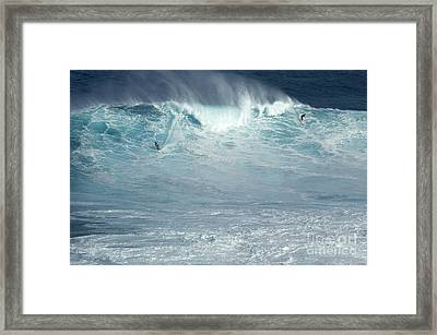 Dropping In Framed Print by Bob Christopher