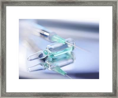 Drug Ampule Framed Print by Tek Image