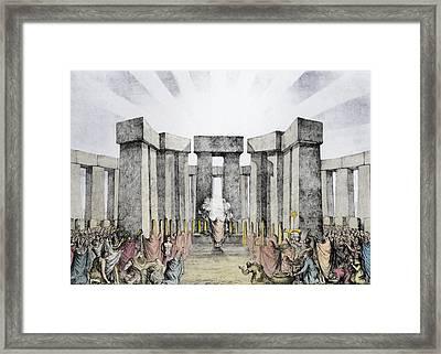 Druids Sacrificing To The Sun Framed Print