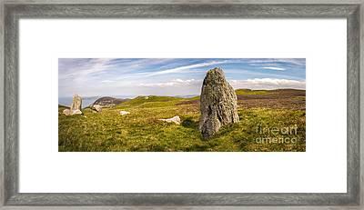 Druids Stone Circle Framed Print by Amanda Elwell
