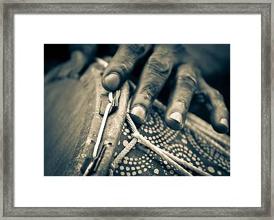 Drum Maker's Hands II Framed Print