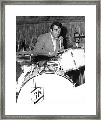 Drummer Gene Krupa Framed Print by Underwood Archives