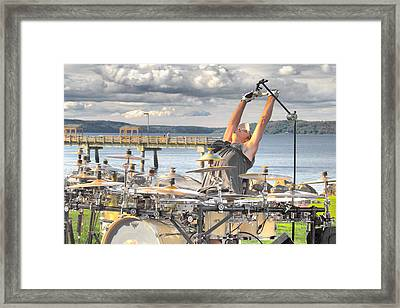 Framed Print featuring the photograph Drummer by Matthew Ahola