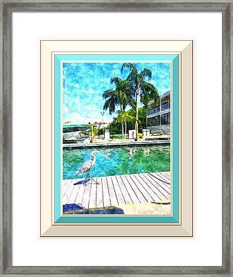 Dry Dock Bird Walk - Digitally Framed Framed Print