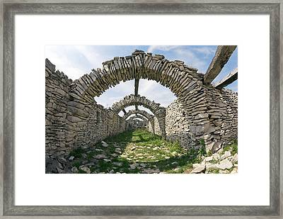 Dry Stone Architecture, France Framed Print by Dr Juerg Alean