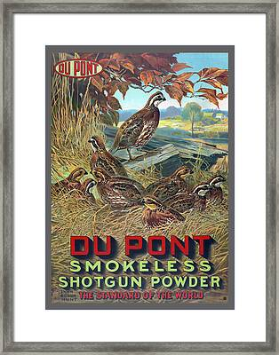 Du Pont Smokeless Framed Print