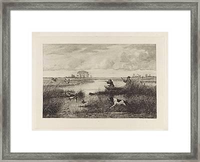 Duck Hunt, Elias Stark Framed Print by Elias Stark