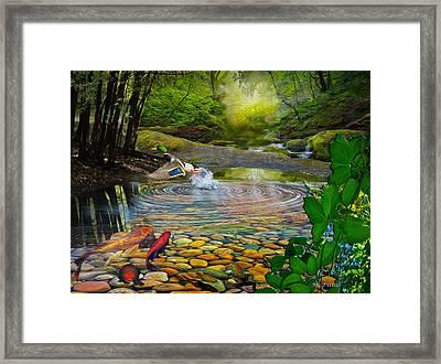 Duck Pond Framed Print