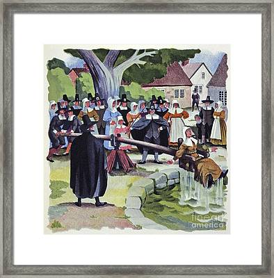 Ducking Stool, Artwork Framed Print by CCI Archives