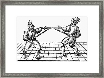 Dueling, 1595 Framed Print by Granger