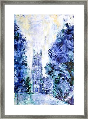 Duke Chapel Framed Print by Ryan Fox