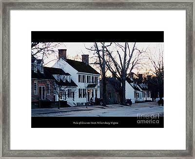 Duke Of Gloucester Street Framed Print by Patti Whitten