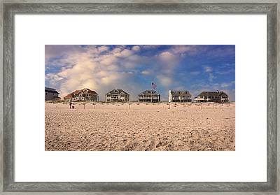Dune Road Framed Print by Laura Fasulo