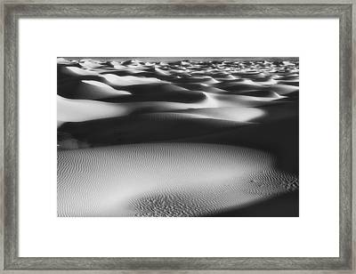 Dunes Death Valley Framed Print