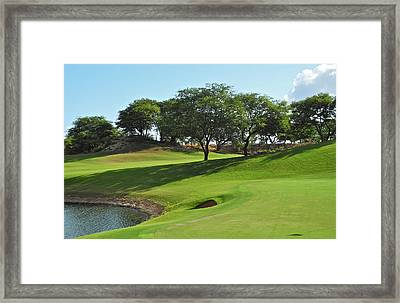 Dunes Of Maui Lani Golf Course  Framed Print by Kirsten Giving