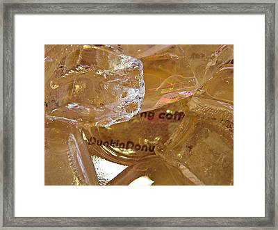 Dunkin Ice Coffee 36 Framed Print by Sarah Loft