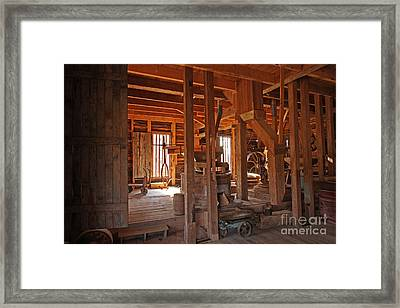 Dunn's Mill Framed Print by Russell Christie