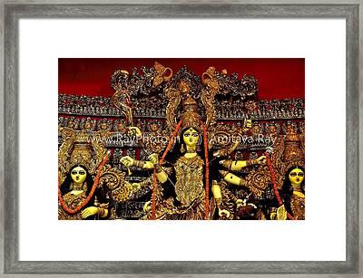 Durga Statue The Hindu Goddess #2 Framed Print