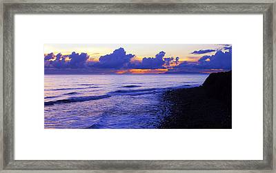 Dusk At County Line Framed Print by Ron Regalado