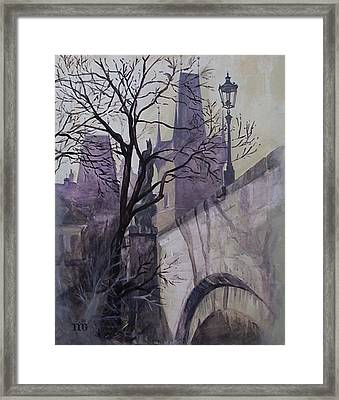 Dusk At The Charles Bridge Framed Print